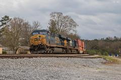 CSX C710 at North Emerson (travisnewman100) Tags: csx train railroad freight intermodal international container ge es40dc emerson georgia atlanta division wa subdivision rr c710 local