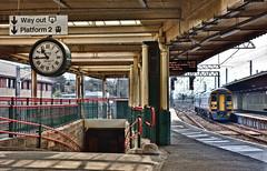 Famous Clock (whosoever2) Tags: uk united kingdom gb great britain england nikon d7100 train railway railroad march 2019 carnforth lancashire briefencounter film clock northern rail class158 158861 1c54 lancaster barrowinfurness