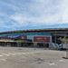 Exterior view of Europe's largest football stadium Camp Nou in Barcelona, Spain