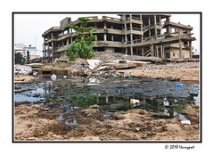 unfinished bulding (harrypwt) Tags: harrypwt africa afrika westafrica canons95 s95 borders framed city reflections building coastal sand
