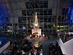 The Nu-Bossa Band, Sage, Gateshead (pab2000) Tags: the nubossa band sage gateshead live music concert gig stage performance concourse by fireplace nu bossa