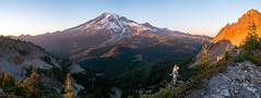 Pinnacle Saddle (Laura Jacobsen) Tags: alpenglow mountains mtrainier mtrainiernationalpark sunset washington
