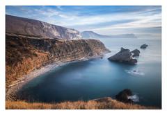 Jurassic blues (Rich Walker Photography) Tags: dorset coast coastline coastal sea seascape seascapes landscape landscapes landscapephotography canon england efs1585mmisusm eos eos80d longexposure longexposures longexposurephotography water blue cliff cliffs stacks cloud sky