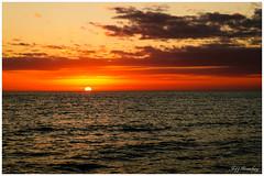 Glowing Sunset (jiroseM43) Tags: sunset water gulfofmexico lidokeybeach florida sarasota sky clouds m43 em10 40150mm
