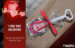 'I Dig You' Valentine  - 14 Days of Love Calendar Day 2 (MadPea Productions) Tags: valentines day madpea love 14days calendar gifts gift madpeas 14 days presents advent decor decorating cupid valentine