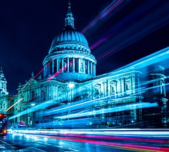 Light trails at St.Pauls (gaztotalmods) Tags: