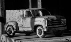 Vintage Tonka (arbyreed) Tags: arbyreed oldtonkatruck vintagetonkatruck tonkaicecreamtruck toy metaltoytruck monochrome bw blackandwhite legends sidecarcafe springvilleutah