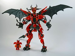 Lavaria's Demon Mech (Slick_Bricks) Tags: lego moc mecha nexoknights fantasy demon devil mech robot afol