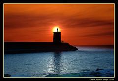 The Lighthouse of Recco (cienne45) Tags: carlonatale cienne45 natale genoa liguria italy recco sunset tramonto lighthouse faro sun