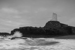 Llanddwyn Lighthouse (RichRobson) Tags: llanddwyn island anglesey wales lighthouse blackandwhite longexposure dramatic waves sea seascape excellentconditions srb srbelitefilters
