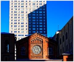 2019/035: Baltimore Shadows (Rex Block) Tags: 2019035baltimoreshadows nikon d750 dslr 50mm f18g baltimore maryland city skyline skyscrapers shadows oldstpaulschurch church project365 365the2019edition 3652019 day35365 04feb19
