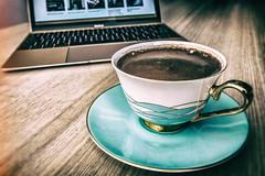 Most of my day (Melissa Maples) Tags: antalya turkey türkiye asia 土耳其 apple iphone iphonex cameraphone spring turkishcoffee coffee drink food macbook laptop computer table