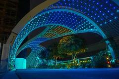 Breaking Waves (ealam) Tags: breakingwaves relaxing ledlights nights pedestrians design spfarchitects rainbowbridge longbeach