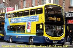 Route 15D, Ringsend Road, (Barrow Street) to Whitechurch, Dublin Bus, SG214, February 2019 (Shamrock 105) Tags: dublin dublinbus damestreet route15d ringsend barrowstreet whitechurch volvo volvob5tl wrightbus