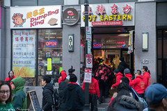 A change of dining plan from hot pot to sushi and dumpling at the food court. (kuntheaprum) Tags: chinatownboston chinesenewyearcelebration yearofthepig sony a7riii tamron 2470mm f28 festival parade dragon firework