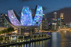 My night walk (20.02.2019) (olyaterekhova) Tags: singapore night marina light colors