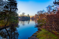 Fall back to Fall (david feld) Tags: water nature sky trees blue landscape lake fall foliage