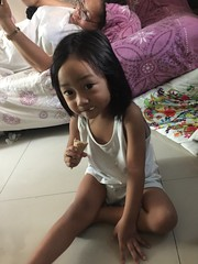 Herou with ice cream (ghostgirl_Annver) Tags: asia asian boy brother family kid child portrait icecream ice cream