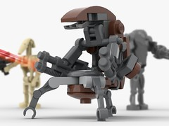 """Where are those DROIDEKAS?"" (KaijuWorld) Tags: lego moc custom droideka star wars prequel droid cis destroyer roly poly ldd"