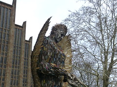 The Knife Angel. P1530923 (Joy Shakespeare) Tags: theknifeangel alfiebradley sculpture knifeangelcampaign coventrycathedral coventry uk britishironworkcentre