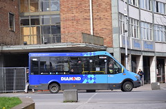 The passengers of Diamond service 42 in Coventry, get a minibus... (paulburr73) Tags: