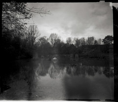 LewisKy-UrbanWaderPW (kycamlewis) Tags: zero612b pinhole figuresinalandscape landscape water pond south london southlondon
