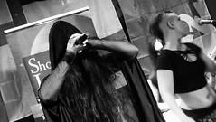 Event Horizon March 2019 035 (byronv2) Tags: music musician woman women makeup stage band krow krowandtheelectrictemple goth gothic punk electro blackandwhite blackwhite bw monochrome dance shorelineofinfinity eventhorizon edinburgh edimbourg scotland frankensteins georgeivbridge