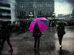 """Pluie d'Avril ( P-A) Tags: pluie parapluie style couleur mode jeune moderne avril eau printemps maussade détrempée flaques nbcouleurs urbaine nuages ville marchéby ottawaon photos simpa© """"nikonflickraward"""""""
