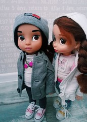 Miriam and Beatrice (ArtCat80) Tags: animators doll dolls disney disneystore jasmine rapunzel belle