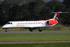 G-SAJC Loganair Embraer ERJ-145EP at Glasgow International Airport 23 March 2019 (Zone 49 Photography) Tags: aircraft airliner airlines airport aviation plane march 2019 gla egpf glasgow abbotsinch international scotland log lm loganair embraererj135 erj145 erj145ep emb145 gsajc