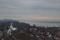 Balatonboglár Gömbkilátó (Péter Vida) Tags: winter sky scenery city panorama railway snow railroad balaton tél ég tájkép város panoráma vasútállomás vasút balatonboglár gömbkilátó water víz