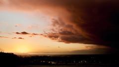 Dark vs Light (graemes83) Tags: pentax vivitar 19mm sunset dusk twilight sun sky cloud dramatic drama outdoors rain