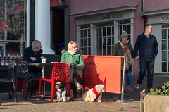 Two by Two by Two (sasastro) Tags: streetphotography candid peoplewatching burystedmunds