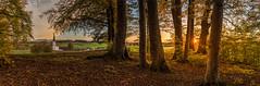 herbstlicher Wald (►susa◄) Tags: kirche herbst wald sonnenuntergang bayern
