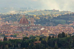 The Duomo (mclcbooks) Tags: florence firenze fiesole italy italia cityscape landscape trees mist duomo cattedraledisantamariadelfiore cathedral