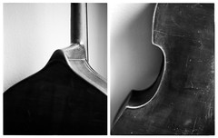 Double Bass (Christoph Schrief) Tags: kontrabass doublebass diptychon intrepid4x5mkii rodenstocksironarn56150 ilfordfp4400 ilfoteclc29 selfdeveloped 4x5 largeformat grossformat film analog sw bw