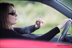 Smoking (markjaspers) Tags: fumer roken sigaret cigarette femme vrouw auto wagen voiture conduire autorijden lobbes belgium