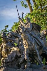 No Surrender (BenBuildsLego) Tags: sunset bronze sculpture statue escultura war memorial washington dc sword swords civil america american beautiful capitol building sony a6000 horse equestrian statues calvalry