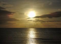 Sunrise Over Wind Turbines - Newbiggin Bay (Gilli8888) Tags: northumberland northeast nikon p900 coolpix newbigginbythesea newbiggin sea northsea windturbines turbines sunrise clouds sunrays five