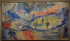 """Souvenir de """"La Flûte enchantée"""", 1976 (RarOiseau) Tags: saariysqualitypictures peinture chagall aixenprovence bouchesdurhône paca bleu blue musique art"""