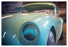 Great curves and colour _ 2 (leo.roos) Tags: cyan carrosserie koetswerk body coachwork cars vintagecars britishmade auto sportauto oldtimer mg mgworkshop monster havenstraat westland zuidholland darosa leoroos meyertrioplan42cmf35 a7 fixedlens vastelens adaptedtoemount fixedtrioplan photaviti meyertrioplan4235 1936 meyertrioplan135f42cm turquoise turkoois