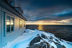 In A Hurry (Wim Air) Tags: lofoten mirror sundown sea arctic light snow