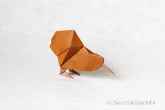 キーウィ / Kiwi (Gen Hagiwara) Tags: origami paper folding art craft papercraft animal bird kiwi newzealand genhagiwara