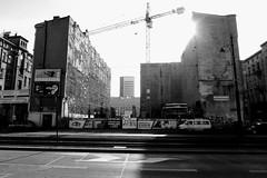 looking east (notojako) Tags: łódź lodz lookingeast blackandwhite monochrome cityscape streetphotography