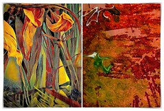 floral truth (kazimierz.pietruszewski) Tags: abstract form composition digipaint digitalart concept graphic colorful border diptych 21 truth