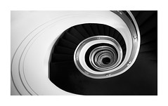 Dark Descent (TS446Photo) Tags: spiral stairs mono berlin black white blackandwhite bnw bw nikon fineart