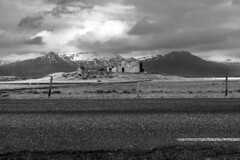 Abandoned (Christoph H. Amateur Photography) Tags: abandoned farmhouse iceland ringroad höfn landscape landschaft mountains snow blackandwhite travel