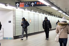 The New York City Subway (dangaken) Tags: subway mta metropolitantransitauthority newyorkcity newyorkny nyc ny waitingforatrain newyorkcitysubway transit publictransit masstransit commuter commute empirestate bigapple fujifilmxt2 fujixt2 xt2 fuji fujifilm fujinon rapidtransit newyorkcitytransitauthority transitauthority metrocard manhattan queens capitaloftheworld alphaworldcity march2019 eastcoast usa unitedstates america american metropolitan newyorkmetropolitanarea trainstation depot wfat platform concourse station nyp travelbytrain travel traveler travelers subwaystation sub metronorthrailroad metronorth longislandrailroad newhavenline harlemline timessquare tsq onetimessquare broadway 7thavenue 42ndstreet 47thstreet streetphotography street candid streetphoto puffycoat blackman africanamerican black hat