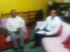 Con autoridades de Bienes comunales de San Juan Teposcolula encabezados por Otilio Espinosa Ramírez trabajamos para reforzar las acciones en materia de ProtecciónCivil
