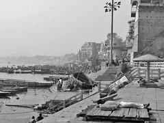varanasi 2019 (gerben more) Tags: benares varanasi blackwhite monochrome ganges ganga ghats boat river